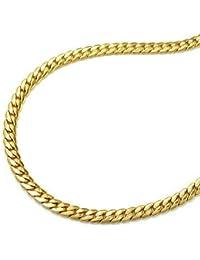 ASS{333} oro mujer cadena 19 cm 3 mm Oval prensado, 8 K