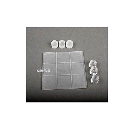 Faberplast- Tres En Raya de Metacrilato, Color Transparente (FB618)