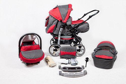 Kombi Kinderwagen Travel System Kamel 2in1 rot-kreisen Kinderwagen Buggy Stroller Poussette