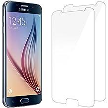 Kapoo - Protector de pantalla para Samsung Galaxy S6, compatible con 3D Touch, vidrio templado para Samsung Galaxy S6, pantalla de protección de cristal para Samsung Galaxy S6, funciona para la mayoría de los casos de protección, lote de 2 unidades