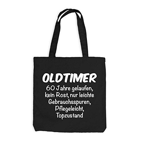 Oldtimer Jahre Years Birthday Fun Schwarz Geschenkidee Jutebeutel Geburtstag 60 60 TdxT7Hq