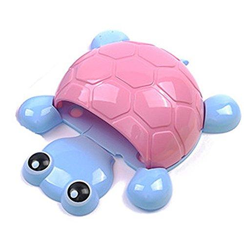 TXIN Schildkröte Form Sucker Haken Zahnbürstenhalter Cartoon Nette Schildkröte Bad Küche Werkzeuge (Rosa) (Mais-suckers)