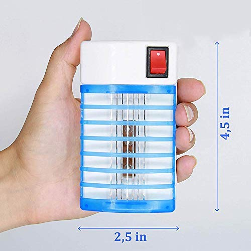 MJY Moskito-Lampe Portable 3 Moskito-Mörder-Lampe Moskito-abweisende Nachtlichter führten Moskito-Kontrolllampen-Blockierstrom-Stecker im Moskito-Mörder-Lampen-Reißverschluss uns Stecker,US-Stecker, -