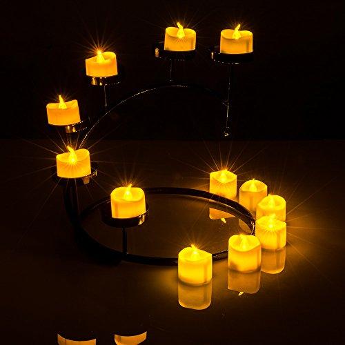 AGPtek Lot 6 Velas LED Eléctricas de Pilas para Decoración de Fiesta Boda...