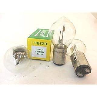 Leuchtmittel 6V-35/35W Bilux weiß anabagliante/Fernlicht Zwei Filament Vespa