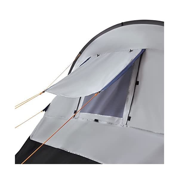 CampFeuer - Tunnel Tent, spacious Camping Tent, 510x360x210 cm, blue/grey - Version 2 8