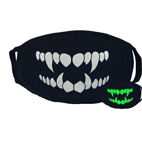 Unisex-Maske, Mundschutz, coole leuchtende Motive, für Cosplay, Partys, -