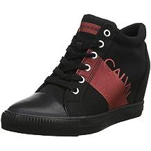 Calvin Klein Roxanna Nylon/Metal Film, Zapatillas Altas para Mujer