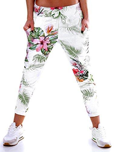 Trendige Damen Jogging-Look Stretch Baggy Chino Eden - Size 36-38 - 5-Pocket - strukturierte Freizeithose -