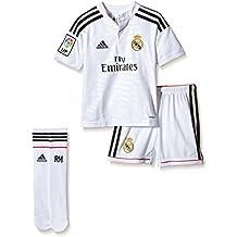 Segunda camiseta oficial Adidas para el Real Madrid de la temporada 2014 15.  Equipación Infantil Real Madrid 1ª ... 87151aa697aac