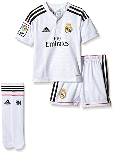 adidas Real H SMU Mini-Set für Kinder Unisex, weiß/schwarz, Weiß/Schwarz (Cristiano Ronaldo-trikot-kit)