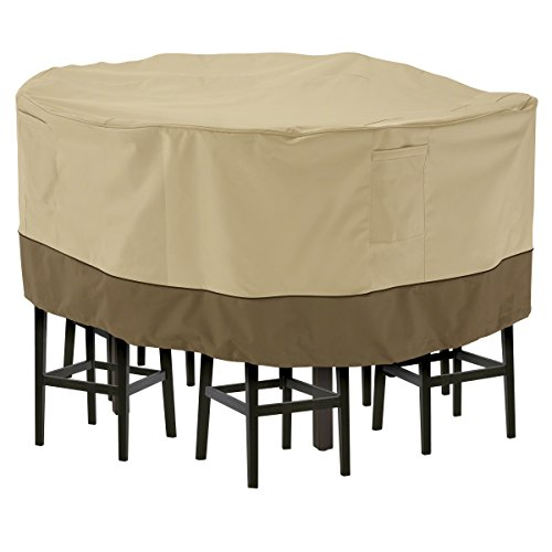 Classic Accessories Veranda Tall Round Patio Table & Chair Set Cover, Large -