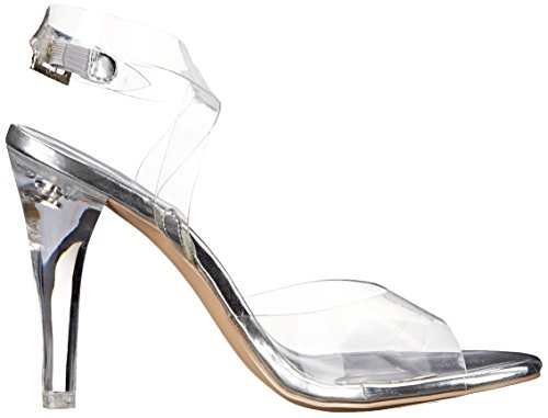 Pleaser Clearly 406, Sandales femme Transparent (Clr Lucite)