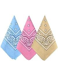 Ambielly Bandanas Classic Paisley Printing Bandanas 100/% Cotton Head Wrap Wristbands Scarfs