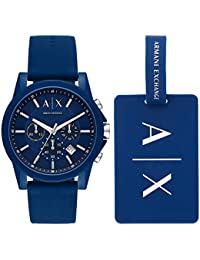 Armani Exchange Outer Banks Analog Blue Dial Men's Watch-AX7107