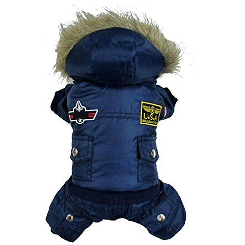 alkyoneus klein Large Pet Hund Winter Overall Warm Kleidung Track Suit Puppy (Rocket Kostüm Boy)
