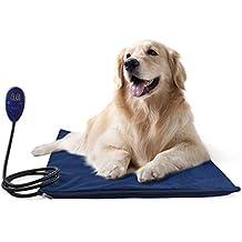 Authda Pet Heat Pad Calentador eléctrico 50 x 50 cm impermeable calentador de cama para cachorro