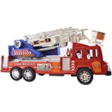 Lukas Fire Rescue Truck, Fire Fighter Fire Truck For Kids, Push And Go Toy For Kids, Fire Brigade Toy Truck, Fire Truck Toy