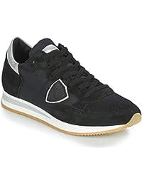 fd15ebb2eccc2 Philippe Model Tropez Basic Sneaker Damen Schwarz Silbern Sneaker Low