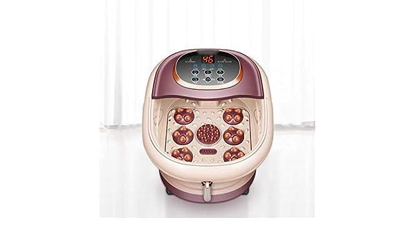 Idromassaggiatore Pediluvio Massaggiatore Piedi Foot Spa Ciotola automatica di massaggio pediluvio elettrico Riscaldamento pediluvio benna termostato domestico vasca profonda Barrel Piede Spa Piedi Va