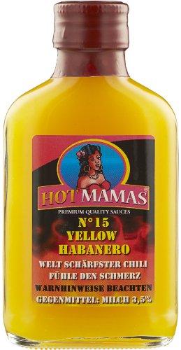 HotMamas Chilisauce yellow Habanero No 15 100ml