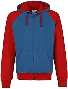 Capitán América Shield Logo Sudadera capucha con cremallera azul/rojo