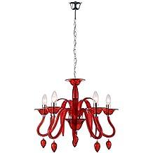 Lampadario rosso for Brico lampadari