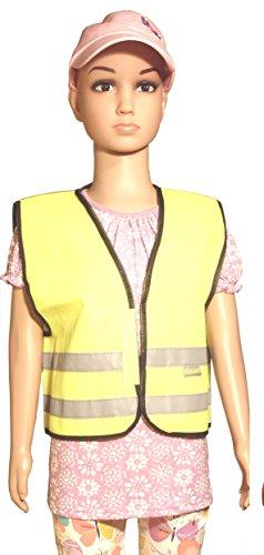Bambini ad alta visibilità Gilet La giallo o rosa Hi Vis Viz Vest Yellow 6-8 Anni
