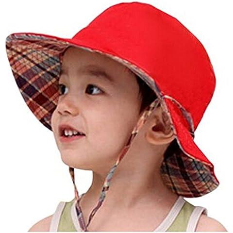 Unisex reversibile per bambini anti UV protezione solare pieghevole cotone