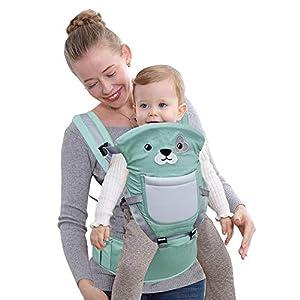 Happy Cherry – Portabebés Ergonómicas con Asiento de Cadera Cintura Ajustable para Bebés Recien Nacido 0-36 meses…