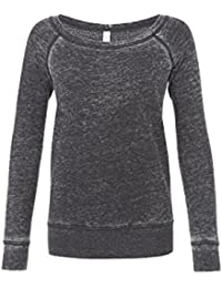Bella Womens Triblend Sponge Fleece Wide Neck Sweatshirt