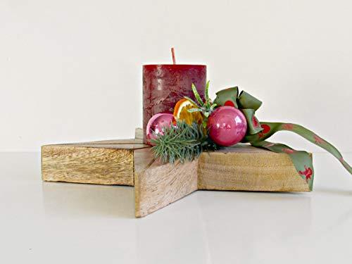 Adventsgesteck Holzstern in Weinrot Adventskranz Weide Silber Holzstern Advent Weihnachten Kranz Gold Advent Sterne Kugeln