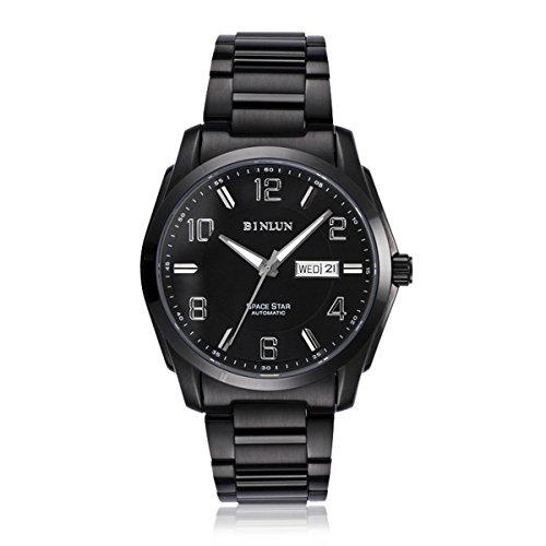 binlun-automatic-watches-for-men-military-mechanical-black-stainless-steel-waterproof-luminous-calen
