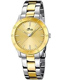 d83751277fc2 Lotus Reloj Analógico para Mujer de Cuarzo con Correa en Acero Inoxidable  18139 1