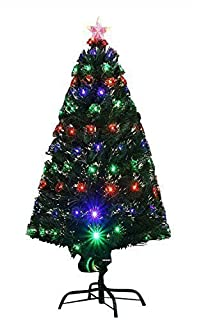 4ft (120cm) Indoor LED Multicolour Fibre Optic Xmas/Christmas Tree with stand (B002WCFZOU) | Amazon price tracker / tracking, Amazon price history charts, Amazon price watches, Amazon price drop alerts