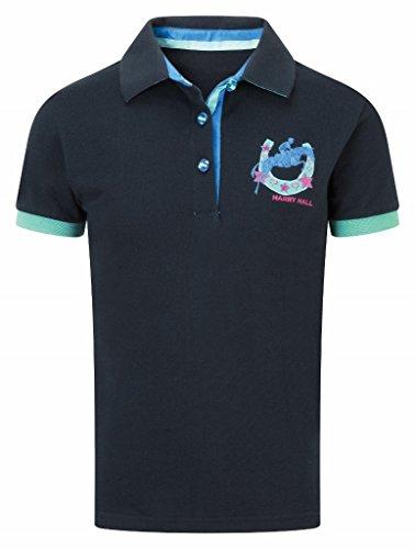 Harry Hall Mappleton - Camiseta Tipo Polo (Talla 11), Color Azul y Rosa, Niña, Color Azul - Navy Blue/Emerald, tamaño 3-4 años