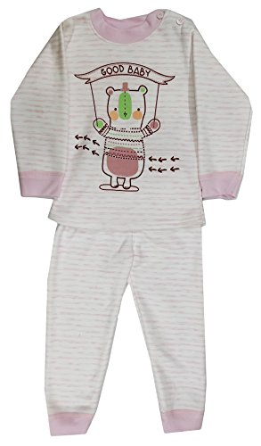 Miss U baby Boys Baby Girls High Quality Night Suit Regular Comfort Fit full Sleeves Winter Wear Cotton Blend Top And Pyjama Set With Inner Fur (WHITE, 60 (2-3 Years))