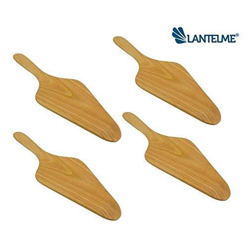 Lantelme 5139 Set of 4 Cherry Wood Pizza Paddle