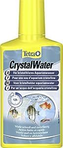 Tetra CrystalWater für kristallklares Aquarienwasser, Wasserklärer gegen Trübungen, bindet Schwebepartikel, 250 ml Flasche