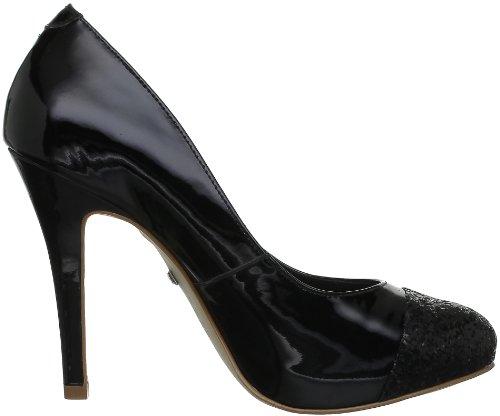 Buffalo 22310X-954, Damen Pumps Schwarz (Patent Black 766)