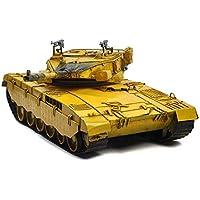 Antigüedad 1987 Israel Merkava MK3 principal tanque de batalla modelo hojalata hecho a mano arte retro de hierro casa decoración decoración de coches decorativos fotografía props 45 * 18 * 17cm