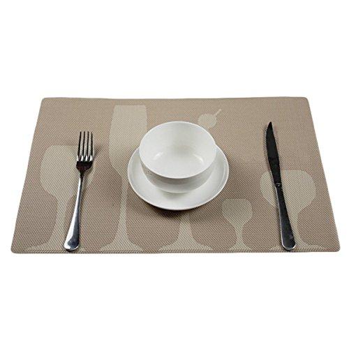 TININNA elegante e durevole tovagliette, un Set da 4 tovagliette colori vivaci per sala da pranzo, anti-olio, facile da pulire(cielo Cachi) - Mouse Pranzo