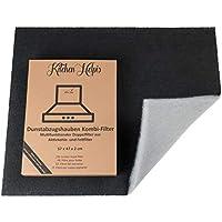 Kitchen Helpis® Filtres combiné pour hottes aspirantes - Filtres à Charbon actif et à graisse 57x47 cm, Filtres doubles, Découpables sur mesure Universel - pour toutes les hottes aspirantes standard