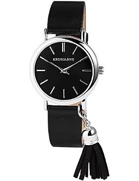 Excellanc Armbanduhr EX0020 Analog Quarz Schwarz 1900031-002