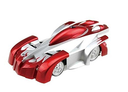 Woowo Super Cool Radio distance plafond voiture de course Wall Climber Voiture Spiderman mur d'escalade Stunt Car Couleur Rouge