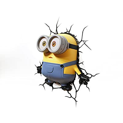 Minion Bob 3D Deco Wall Light - inexpensive UK light shop.