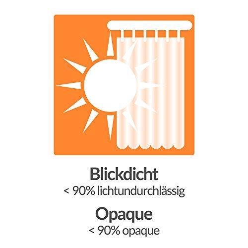 Beautissu Blickdichter Ösen-Vorhang Amelie – 140×245 cm Weiß Uni – Dekorative Gardine Ösenschal Fenster-Schal - 6