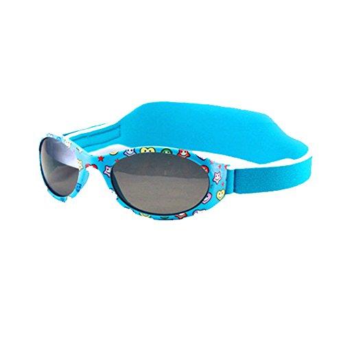 MOLA MOLA Sonnenbrille Baby polarisiert Für Jungen 1 bis 3 JAHRE MIT WEICHEM NEOPREN STRAP 100% UV Schutz Safe blau