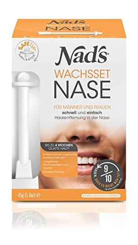 Nad's Nasenhaar Wachs Haarentfernung Set - Nasenwachs für Männer+Frauen, Sicher & Schmerzfrei