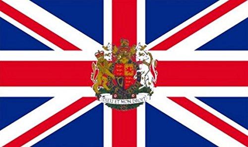 Royal drapeau Union Jack 90cm x 60cm Moyen - 100% Polyester-oeillets métal-cousus Double